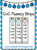 First Grade Phonics: CvC Fluency Strips