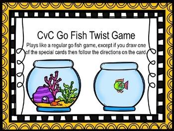 CvC Go Fish Games/Activities