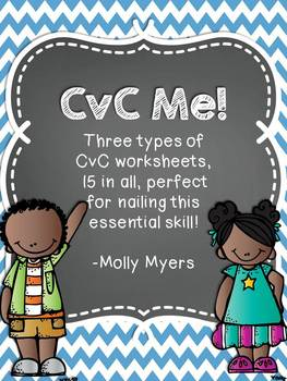 CvC Me! - Interactive CvC Packet with three types of worksheets!