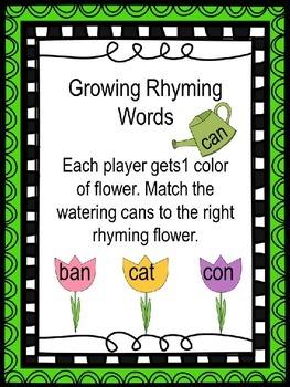 CvC Rhyming Word Match