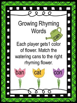 CvC Rhyming Word Match