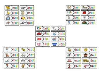 CvC Short Vowels Puzzle