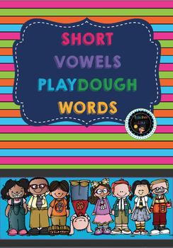 CvC Short Vowels play dough