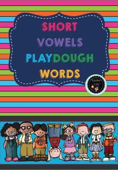 CvC Short Vowels play dough