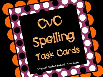 CvC Spelling Task Cards