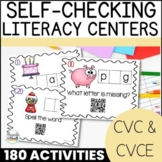 CVC Word Family Printable Centers | Beginning, Middle, Ending Sounds BUNDLE