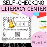 CVC Word Family Printable Centers | Short A Word Families