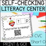 CVC Word Family Printable Centers | Short O Word Families