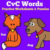 CVC Words Worksheets | Preschool Kindergarten 1st Grade Ac