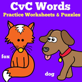 CVC Words Kindergarten Worksheets