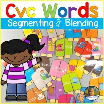 CvC Words Blending Sounds Word Work Popsicle Theme