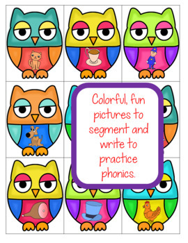 CvC Words Blending and Segmenting Sounds Owl Theme