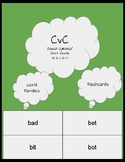 CvC short vowel flashcard/closed syllable/Orton-Gillingham