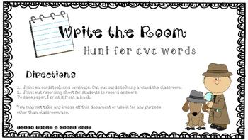 Cvc Detective Write the Room
