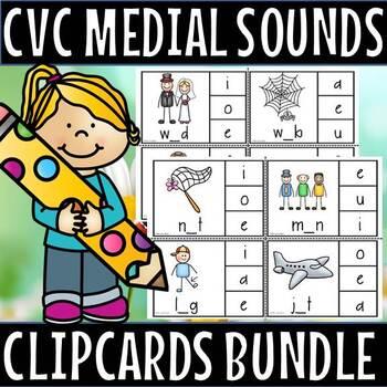 Cvc Medial clip cards bundle(50% off for 48hours)
