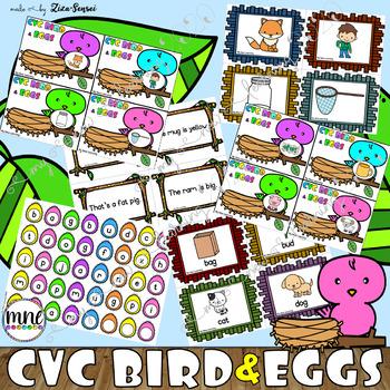 CVC Word Bird&Nest (Game+Activities)
