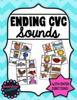 CVC ending sounds (Literacy centers)