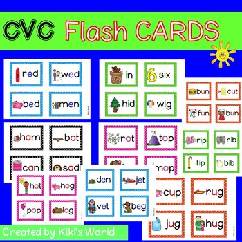 CVC flash cards (40 flash cards)