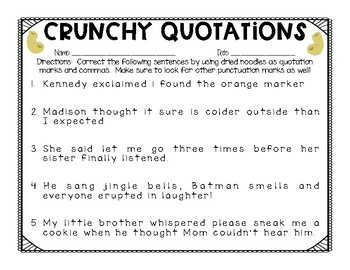 Quotation Mark Printables