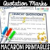 Quotation Mark Printables