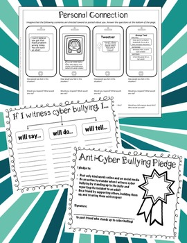 Cyber Bullying Handouts, Visual Aids, and Activities