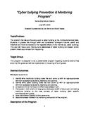 """""""Cyber Bullying Prevention & Mentoring Program"""""""""""