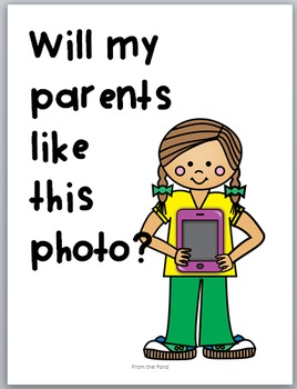 Cyber Safe Kids - Taking Safe Digital Photos - Discussion Posters