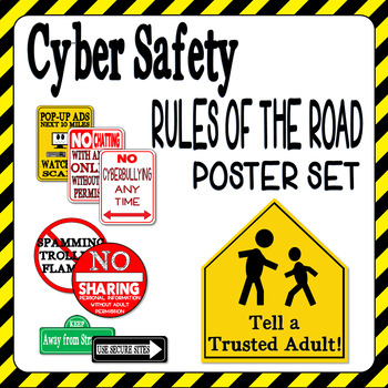 Cyber Safety Classroom Poster Set - Rules of the Road