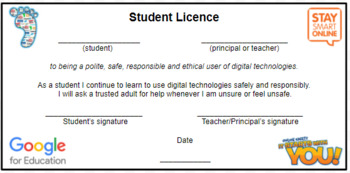 Cyber Safety/Digital Technologies Licence