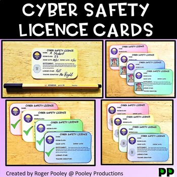 Cyber Safety Licence Cards, teacher notes, 16pgs