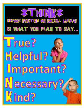 Cyber Safety THINK poster