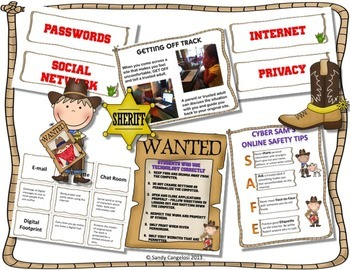DIGITAL CITIZENSHIP AND ONLINE SAFETY - Posters, Group Activities, and Badges