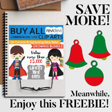 Cyber Sale Freebie. Christmas bell ornaments clip art