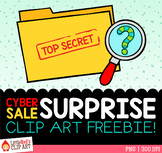 Cyber Sale Surprise Clip Art Freebie