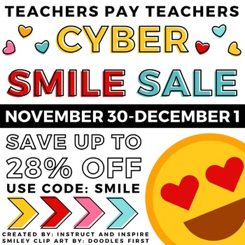 TPT Cyber Smile Sale Button and Banner