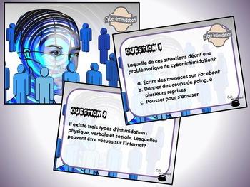 Cyber-intimidation (cartes à tâches) (Éthique et culture r