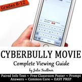 Cyberbully Movie Graphic Organizer, Sub Plan, Any Subject, End of Year