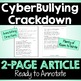 Cyberbullying Close Reading Article & Questions