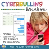 Cyberbullying Digital Breakout (Cyber bullying)
