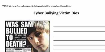 Cyberbullying News Article task
