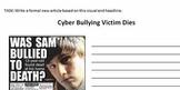 Cyberbullying News Article task
