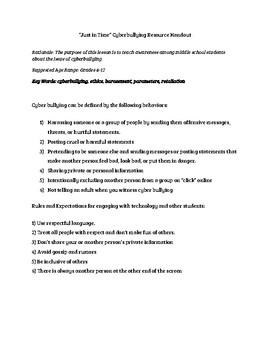 Cyberbullying Resource
