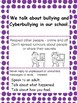 Cyberbullying -Say no! Child friendly posters and pamphlet-whole school approach