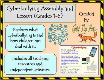 Cyberbullying assembly and lesson for K to Grade 2 and Grades 3 to 5