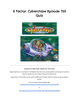 Cyberchase Video Response Quiz- The X Factor (Multiplication)