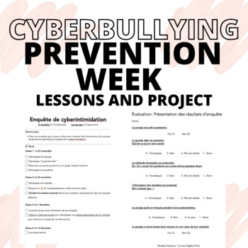 Cyberintimidation (Cyberbullying) Survey Package  [BULLYING PREVENTION WEEK]