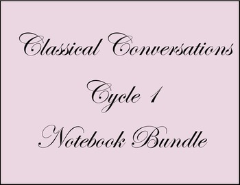Cycle 1 Notebook-Classical Conversations-Bundle-All Ages-W