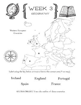 Cycle 2 Geography Mapping Notebook ALL WEEKS (use w/ Classical Conversations)