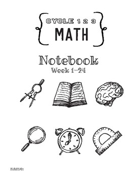 Cycle 1 2 3 Math Activity Notebook ALL WEEKS Worksheets