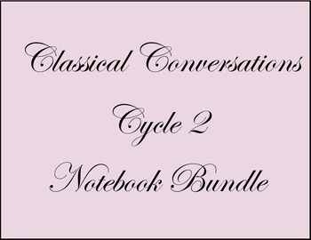Cycle 2 Notebook-Classical Conversations-Growing Bundle-All Ages-Weeks 1-24
